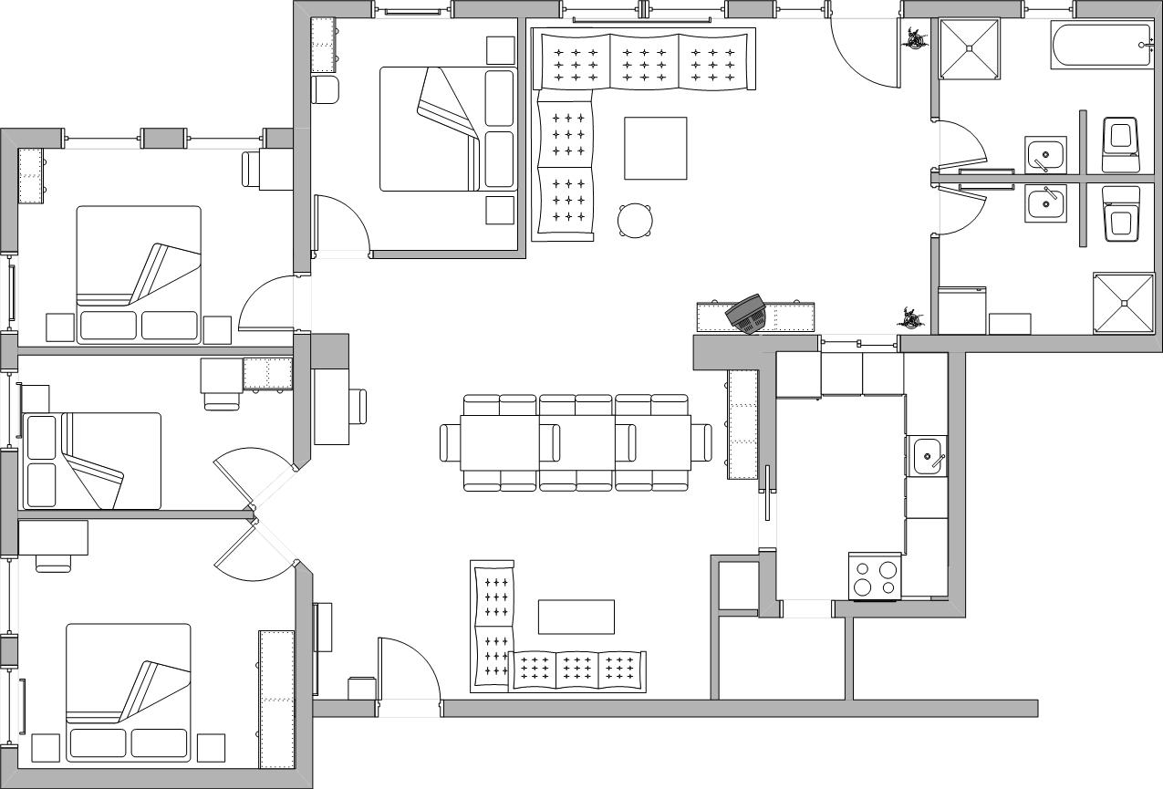 4 schlafzimmer für 7 personen 2 badezimmer nichtraucher